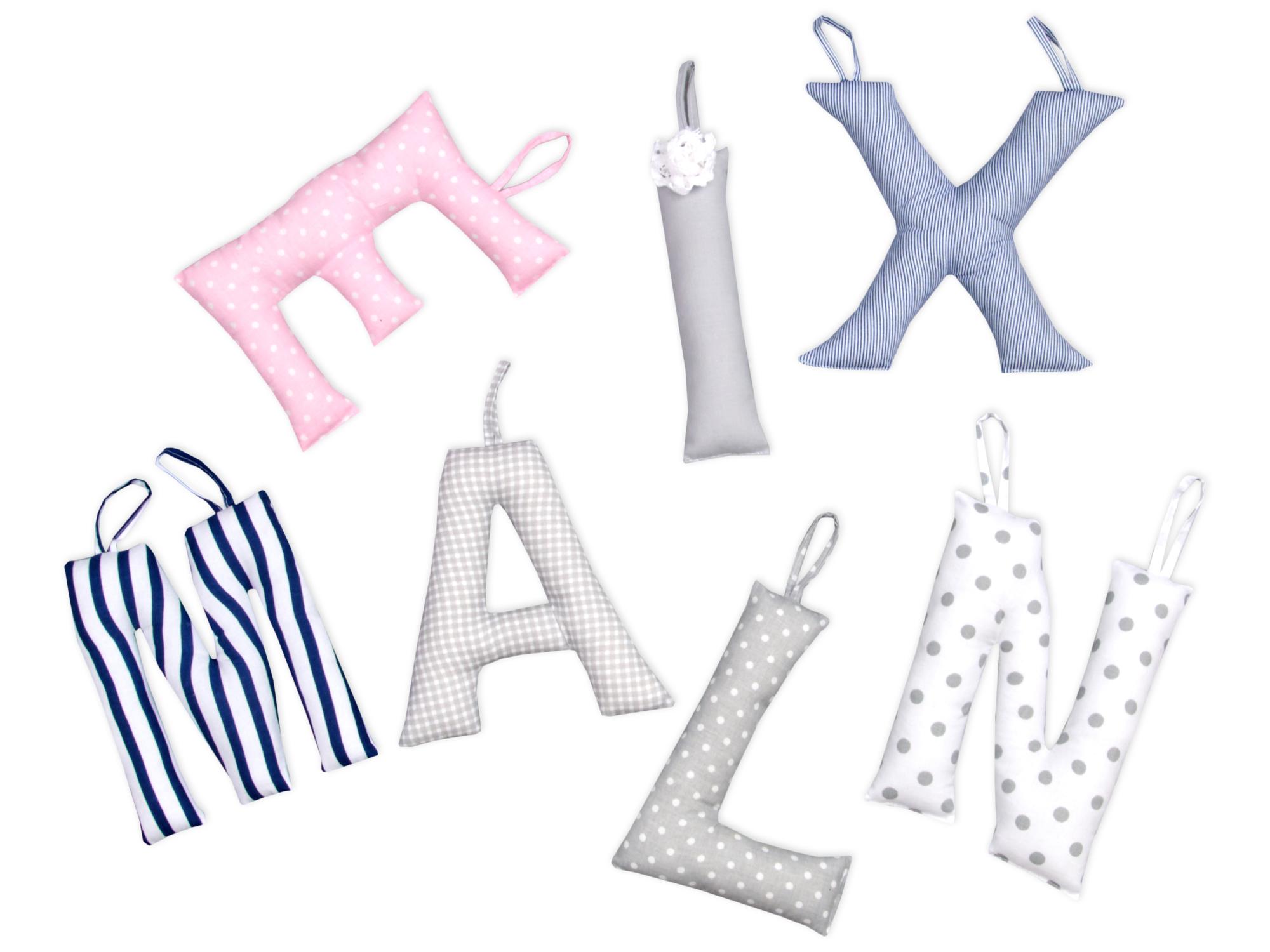 Dekoration Buchstaben aus Stoff gefüllt zur Auswahl von A bis Z