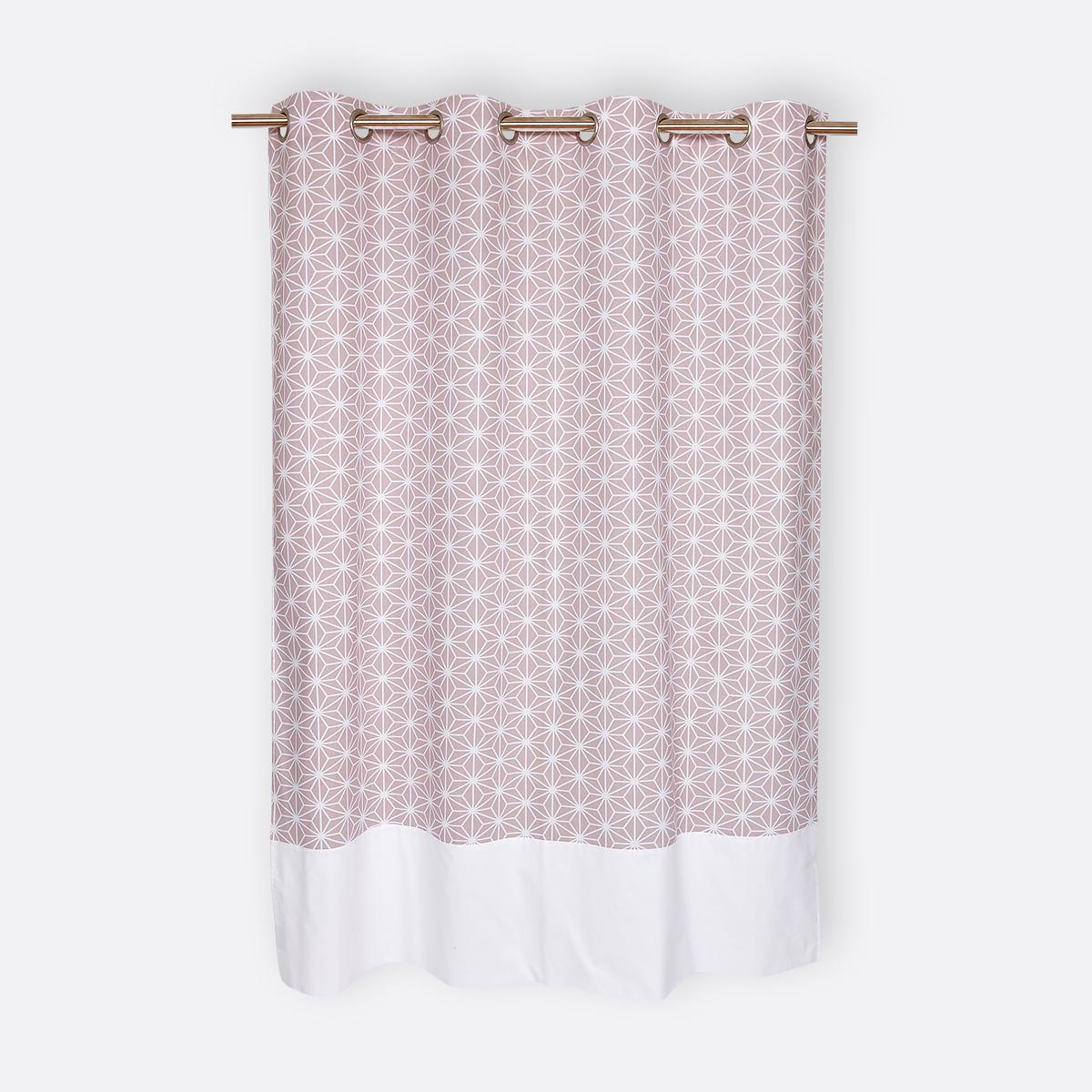 kraftkids gardinen wei e diamante auf cameo rosa l nge 170 cm. Black Bedroom Furniture Sets. Home Design Ideas