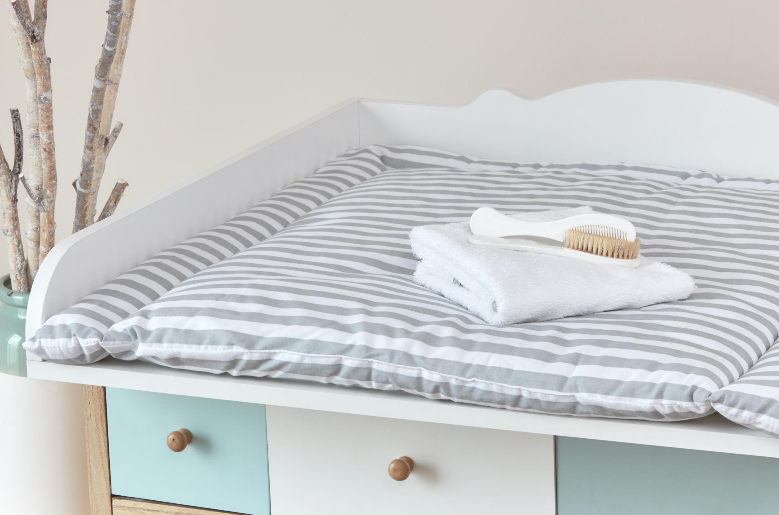 kraftkids wickelauflage dicke streifen grau breit 75 x tief 70 cm. Black Bedroom Furniture Sets. Home Design Ideas