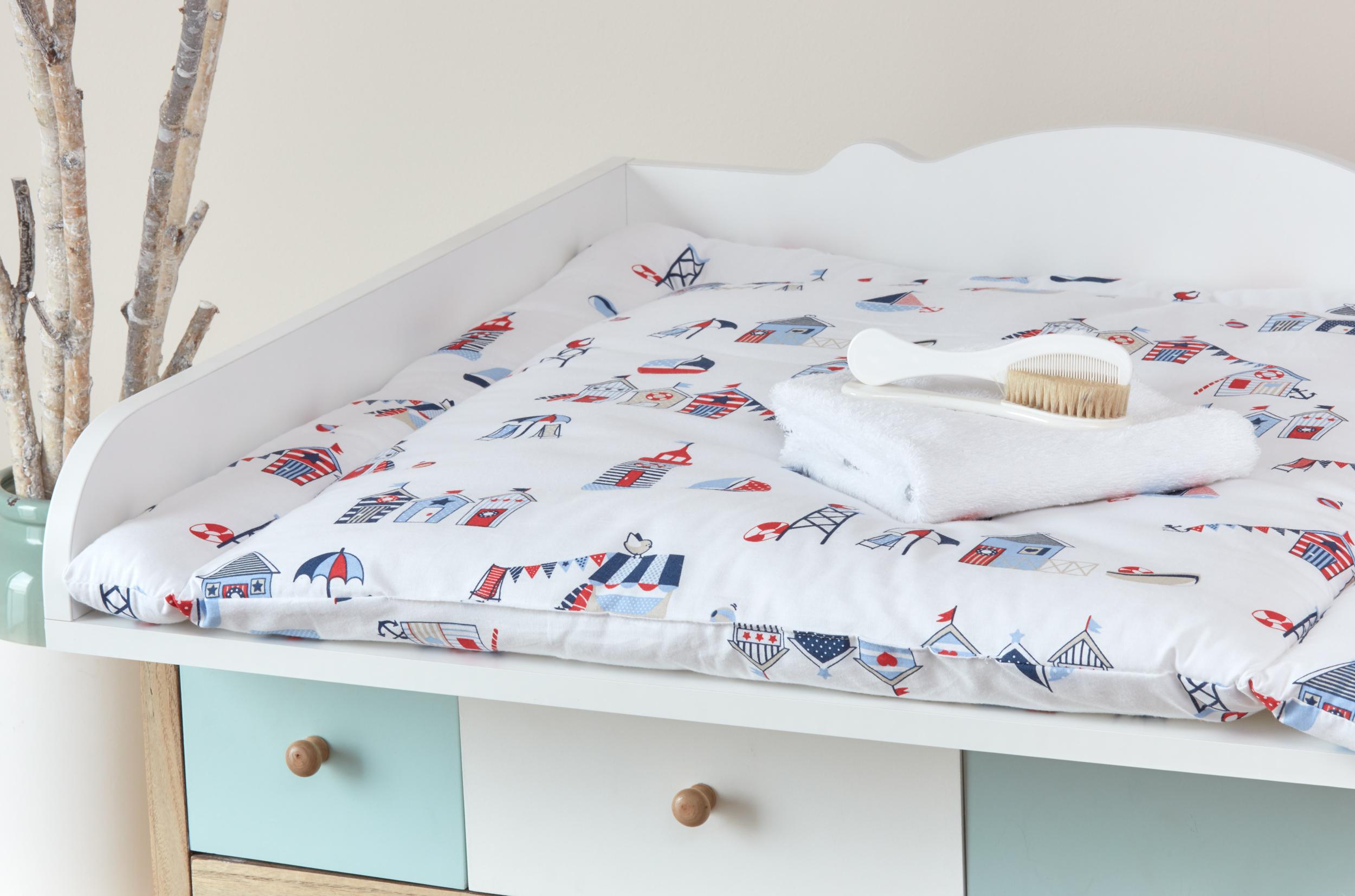 kraftkids wickelauflage strandh uschen breit 78 x tief 78 cm z b f r malm oder hemnes. Black Bedroom Furniture Sets. Home Design Ideas